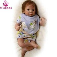 UCanaan 50CM Baby Born Silicone Dolls Reborn Handmade Soft Cloth Body Toys For Children Kawaii Boy Baby Newborn Boneca Reborn