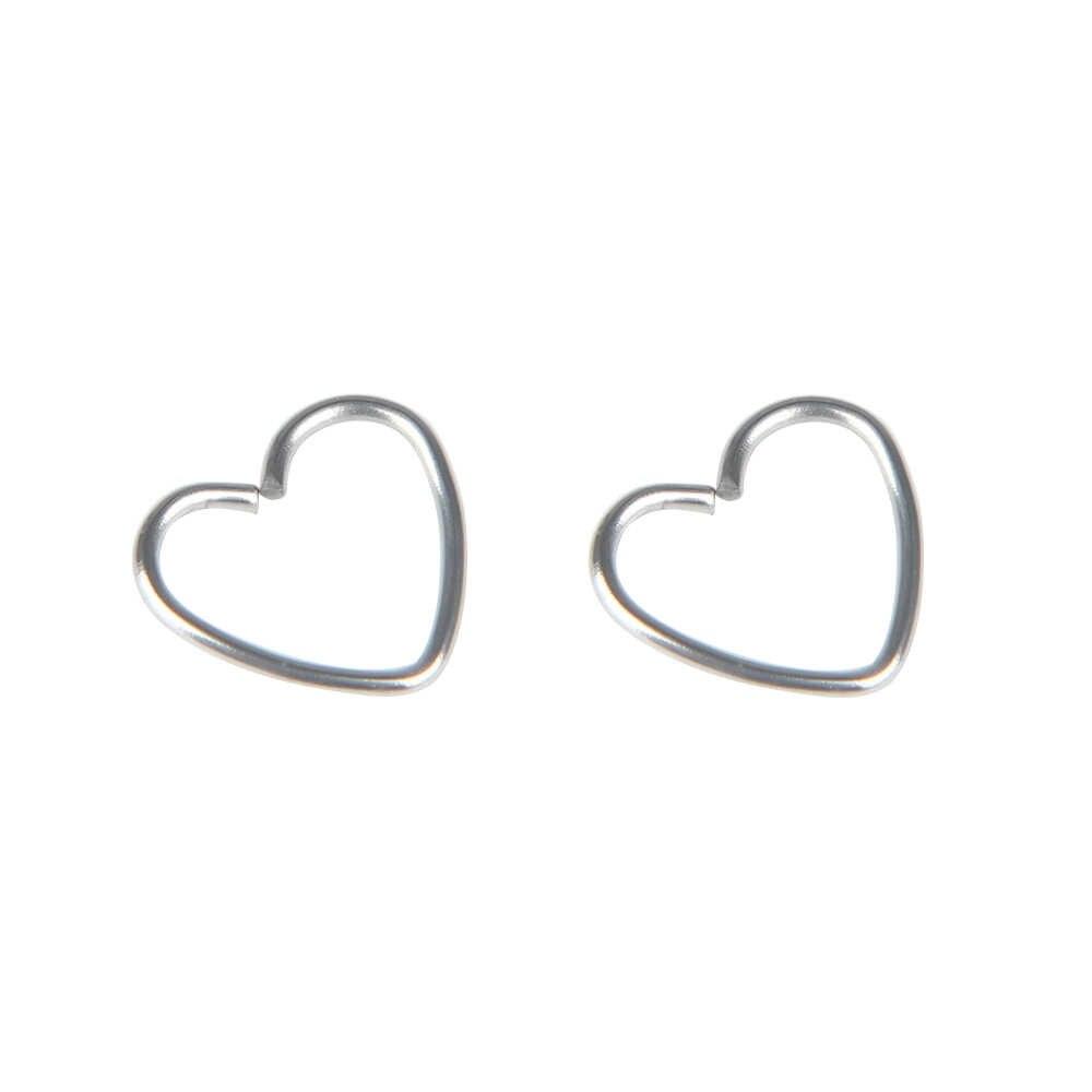 2pcs หรือ 1pc เหล็กผ่าตัด Daith หัวใจหูจมูกแหวนกระดูกอ่อน Tragus Hoop Lip จมูกแหวน Orbital ear Stud เครื่องประดับ
