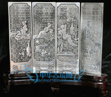 Chinese Boutique collection Tibetan silver carving Spring summer autumn and winter folding screen