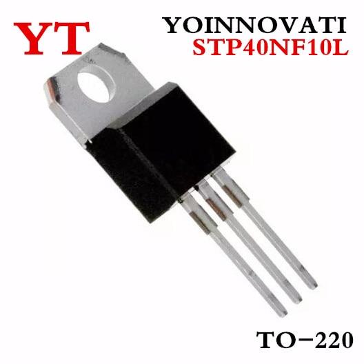 5PCS STP40NF10 MOSFET N-CH 100V 50A TO-220 40NF10