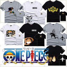 One Piece T-shirt cotton luffy anime short sleeve men t shirts tops tshirt tee