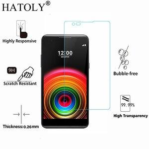Image 2 - 2 قطعة الزجاج المقسى sFor LG X الطاقة رقيقة جدا واقي للشاشة ل LG X قوة تشديد طبقة رقيقة واقية + تنظيف عدة HATOLY