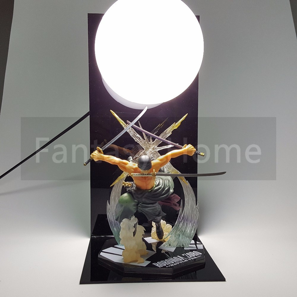 One Piece Figurine Roronoa Zoro PVC Figure DIY Affichage Santoryu Compétence Modèle Jouet Anime One Piece Zoro Jouet + balle + Base DIY35