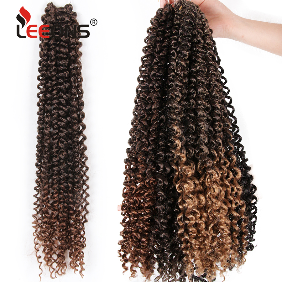 Leeons Passion Twist Crochet Braid Hair 18Inch Fluffy Kinky  Spring Twist Hair Locks Synthetic Ombre Hair Extension 18