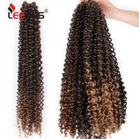"""Leeons Passion torsion Crochet tresse cheveux 18 pouces moelleux crépus printemps torsion cheveux serrures synthétique Ombre cheveux Extension 18 """"T30"""