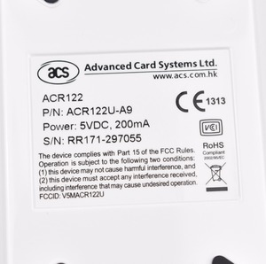 Image 2 - Russian Spain in stock ACR122U USB 13.56mhz NFC Card Reader Writer Copier Duplicator Clone Software +5pcs UID key+5pcs UID cards