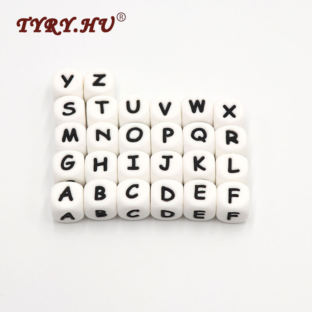 Lower Price with 10 Pcs L English Alphabet Silicone Letter Bead Diy Baby Teething Beads Pendant Toy Necklace Food Grade Silicone Beads 12 Mm Beads & Jewelry Making