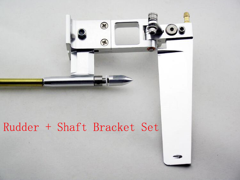 RC Catamaran Boats 4/4.76mm Rudder+Shaft Bracket Set Steering Rudder Shaft System Kit Drive Dog for Ghost Ships Model DIY Parts 1set 160mm dual suction steering wheel rudder 100mm shaft bracket diameter 6 35mm soft shaft bracket for rc boat spare parts