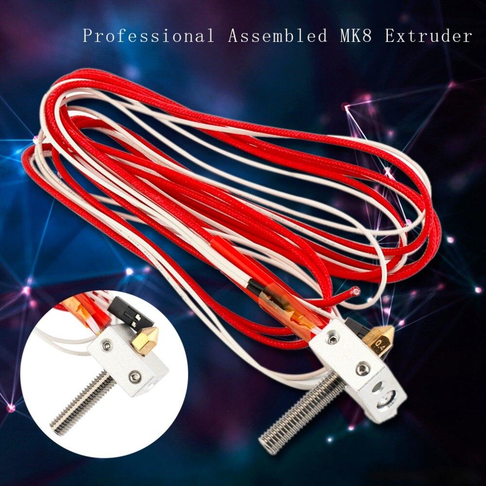 Professional Assembled MK8 Extruder 1 75mm 0 4mm Nozzle 3D Printer Aluminum Heating Block 3D Printing