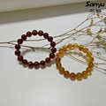 Natural burmese amber bracelet with certificated+Bangle about 12g+red brown&golden brown color+burmite+handmade healthy gift