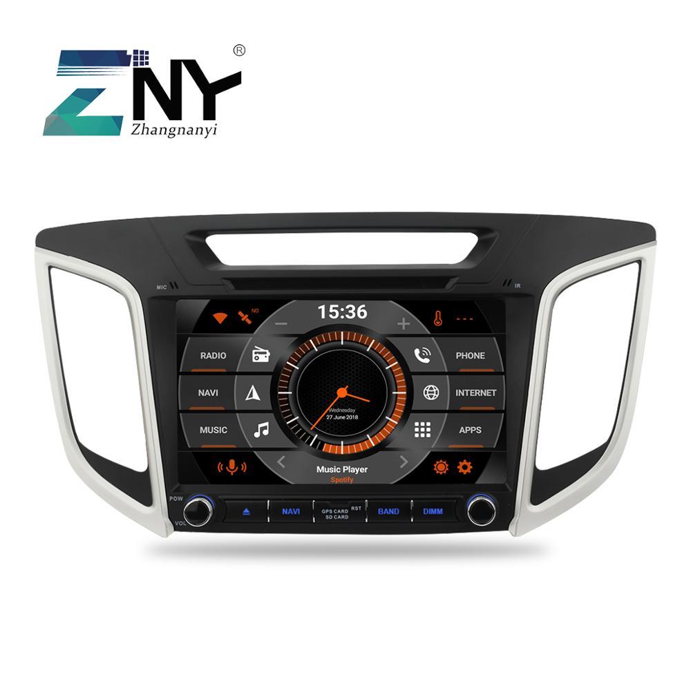 9 Android 9.0 Car DVD For Hyundai Creta IX25 2014 2015 2016 2017 2018 Auto Radio FM RDS Stereo WiFi GPS Navigation Backup Cam