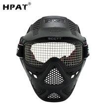 SPUNKY новая тактическая маска из нержавеющей стали с полным лицом защитные маски для страйкбола, стрельбы из лука, пейнтбола