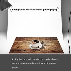 Image 3 - 60x60cm Retro Wood Board Texture Photography Background Backdrop Cloth Studio Video Photo Backgrounds Props For Food