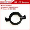 2pcs H7 LED auto Headlight Bulbs Holder Adapter Base H7 led holder socket New Mondeo PEUGEOT 508/2008/3008 Citroen C5/DS5/DS6 H7