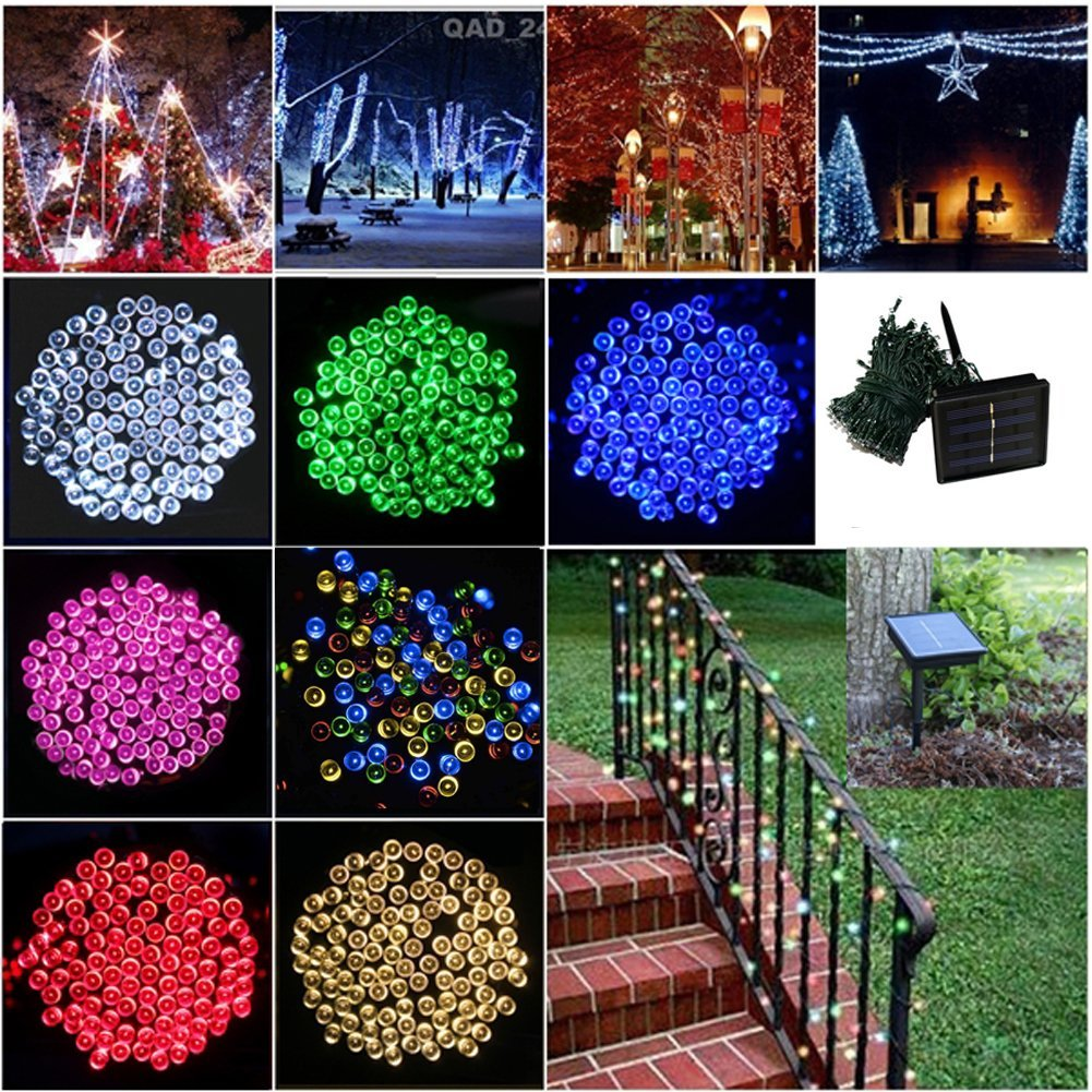 Solar Outdoor Christmas Lights.Led String Light 200leds 20m Solar Colorful Holiday Led Lighting Waterproof Outdoor Decoration Light Christmas Light In Lighting Strings From Lights