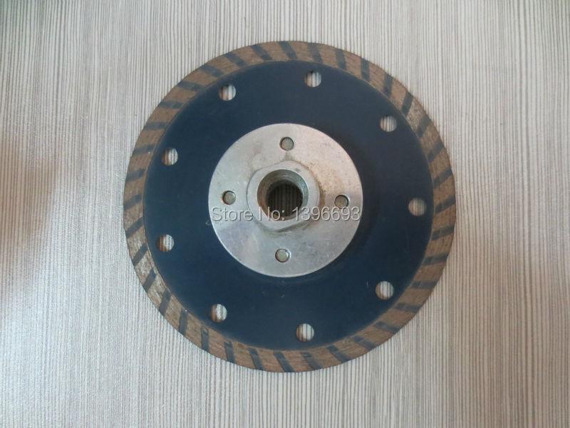10pcs115x7xM14 lama per sega circolare turbo diamante con flangia per utensili da taglio in granito, marmo, mattoni e cemento, ruote da taglio