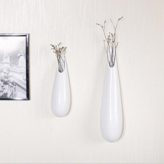 3 шт./компл. Белый современные ваза для цветов набор керамической ремесла стены подарок украшение дома краткое ваза для цветов ремесел подарки