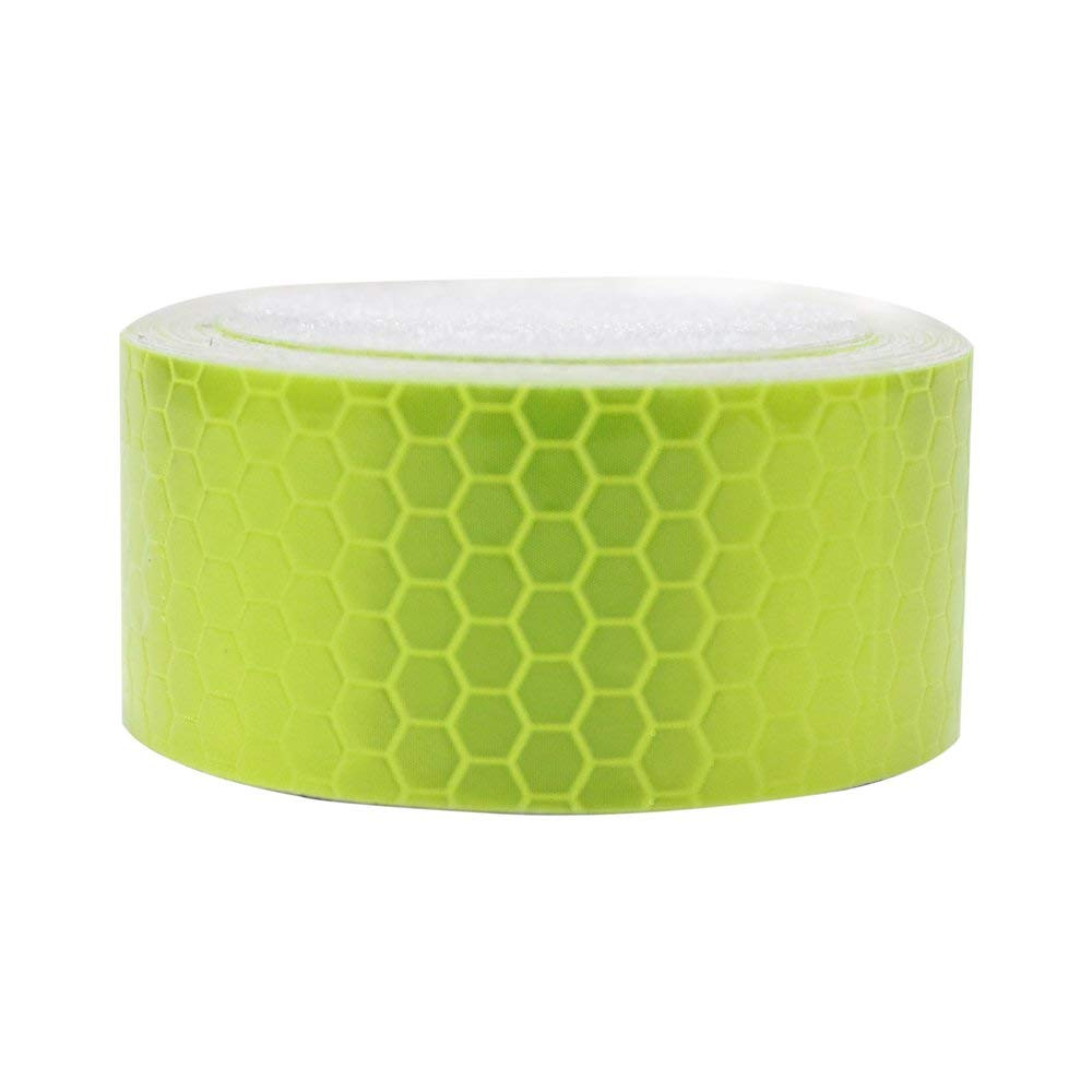 Roadway Safety Alert 5cm*45m Truck Annual Inspection Honeycomb Lattice Pvc Reflective Warning Safety Self-adhesive Tape Low Price Reflective Material