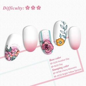 Image 5 - BORN PRETTY kwadratowe stemple do paznokci róże kwiaty szablon ze stali nierdzewnej Nail artystyczny obraz wzornik kwiat Tango narzędzia diy
