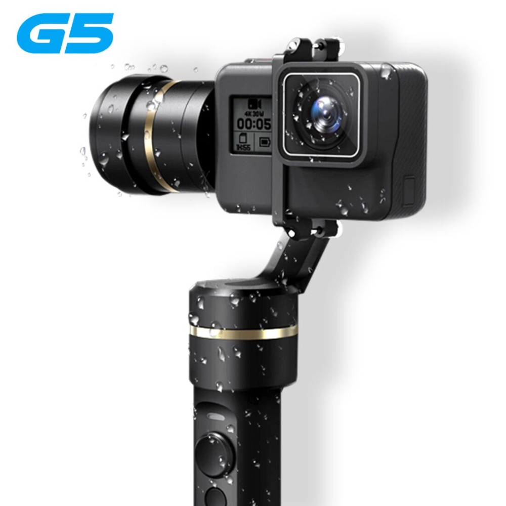 New Version Feiyu G5 Handheld Gimbal for GoPro HERO5 5 4 Xiaomi yi 4k SJ AEE Action Cams Splashproof Bluetooth-enabled control feiyutech feiyu fy g5 3 axis handheld gimbal splashproof for gopro hero 5 4 3 3 xiaomi yi 4k sj aee action cameras bluetooth