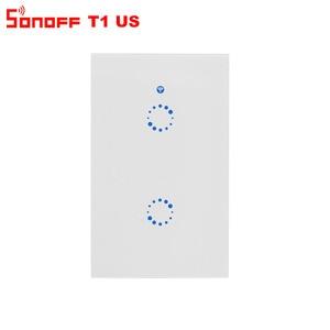 Image 4 - Itead Sonoff T1 US Wifi interrupteur mural relais de lumière sans fil 315MHz RF/tactile/App contrôle commutateur intelligent fonctionne avec Alexa Google Home