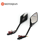 Motorcycle Mirrors Rearview with turn signals Lights City Motorbike Model 8MM Mount Rear view Mirrors Multi With Color Parts