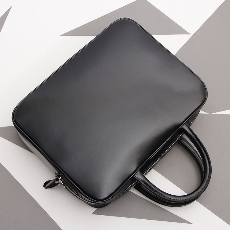Simple Men's Bag Genuine Leather Business Crossbody Bag Large Capacity Handbag Laptop Briefcase.