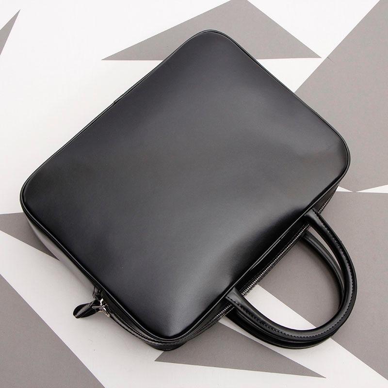 Simple Men's Bag Genuine Leather Business Crossbody Bag Large Capacity Handbag Laptop Briefcase.