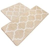 Kitchen Mat, Decorative Non Slip Microfiber Doormat Bathroom Mats Shower Rugs For Living Room Floor Mats