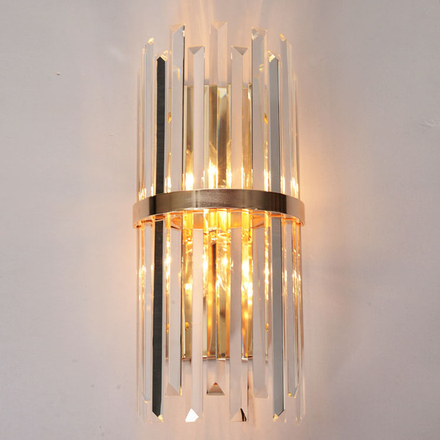 Luxury foyer living American wall light luminaire bracket l& nordic modern glass crystal modern gold wall & Luxury foyer living American wall light luminaire bracket lamp ... azcodes.com