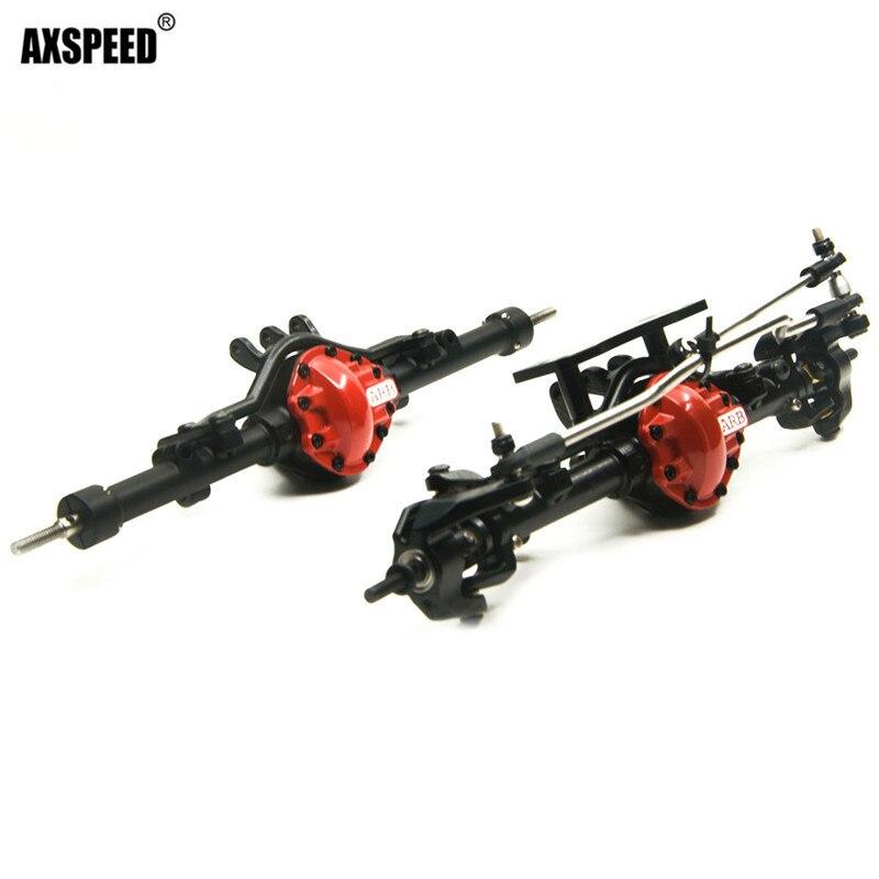 Rojo Negro aleación delantero y eje trasero ARB edición completa con caja para D90 1/10 RC Crawler