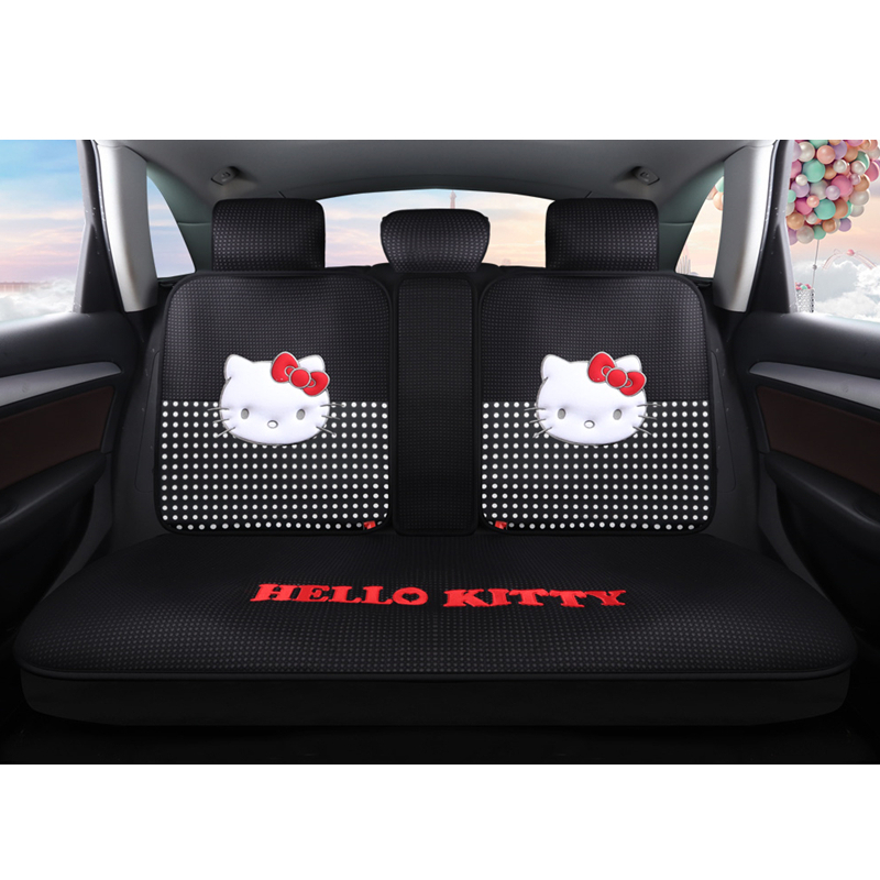 Cartoon Hello Kitty rose automobiles siège couvre coton quatre saisons femmes auto-housses coussin set accessoires de voiture mignon pour les filles - 4