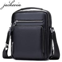 JACKKEVIN Top Quality 100 Genuine Leather Bag Men IPad Tabelt Cowskin Crossbody Bag Men S Handbags