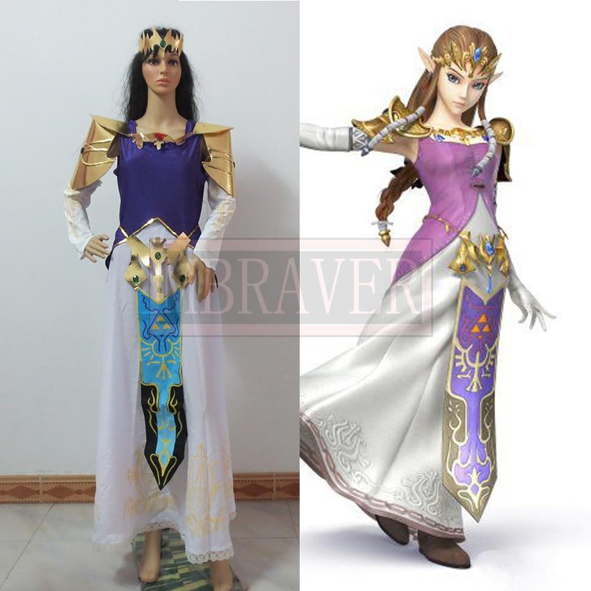 Video Games The Legend of Zelda:Hyrule Warriors (Zelda Muso) Princess Zelda Cosplay Costume Custom Made Full Set