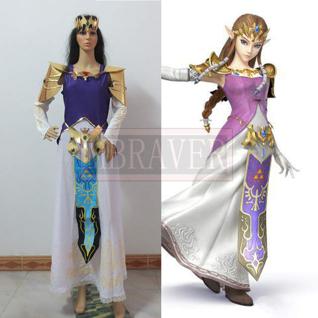 Us 91 0 Video Games The Legend Of Zelda Hyrule Warriors Zelda Muso Princess Zelda Cosplay Costume Custom Made Full Set In Game Costumes From