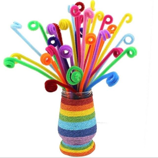 100 pz Ciniglia Artigianato Colorato Tubo Cleaner Giocattoli Artigianali Shisha