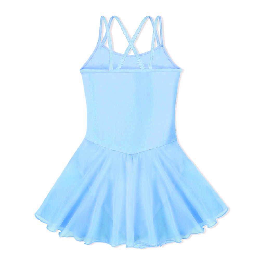 BAOHULU/синий хлопковый костюм без рукавов для маленьких девочек; гимнастический купальник; детский балетный костюм; танцевальная одежда с цветами и бисером для девочек