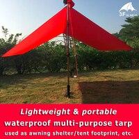 3F UL Gear Lightweight Outdoor Waterproof Tarp Awning Sun Shelter Mat Tent Footprint Multi Purpose Reinforced