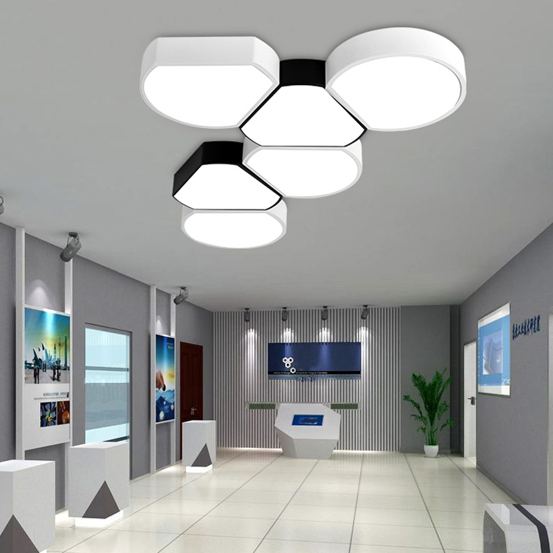 Simple modern bedroom led ceiling lamp special shape study room office led ceiling lamp templet room lamps and lanterns noosion modern led ceiling lamp for bedroom room black and white color with crystal plafon techo iluminacion lustre de plafond