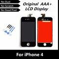 100% тестирование высокое качество черный замена жк-сенсорный для iPhone 4 ЖК касания для iPhone4 мобильный телефон