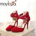 Zapatos de Mujer 2016 Nueva Llegada de las señoras del alto talón de La Boda zapatos de Moda Dulce Vestido de punta estrecha Women Shoes Bombas Al Por Mayor y ventas al por menor