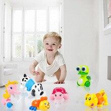 Монтессори Обучающие Мультяшные милые игрушки животные заводные игрушки ползание младенца игрушка обучающая Классическая Детская игрушка случайный цвет