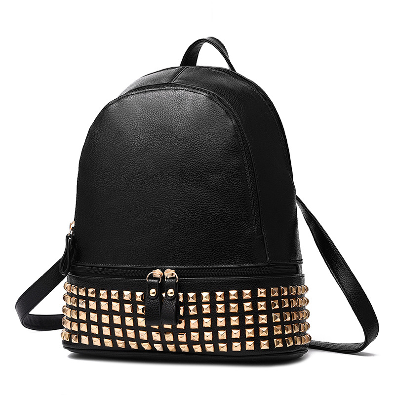2017 Top Quality Leather Women Backpack Rivet Small Casual College PU School Bags  Female Retro Daily Travel Bag Backpacks Bag цена 2016