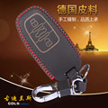 Genuine Leather Car Key Fob Cover Key case wallet exclusive for AUDI A4 A5 Q5 A6L A8 A8L RS5 keychain key ring