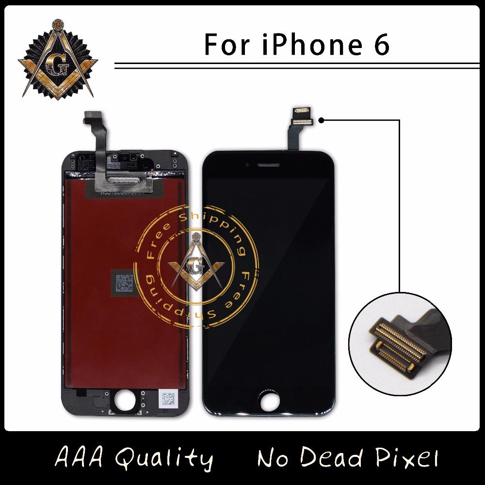 Prix pour Excellente qualité tm lcd pas dead pixel pour iphone 6 6g affichage tactile digitizer assemblée livraison gratuite dhl
