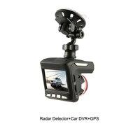 Russian 3 In 1 Multifunction Car DVR Camera with Radar Detector Laser Built in GPS Logger Alarm System Digital Video Recorder