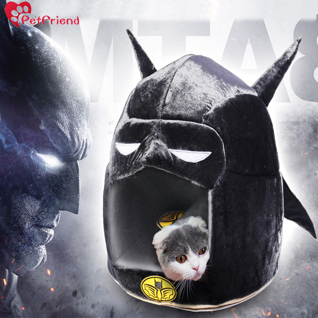 Batman Bed for Small Cat Dog Cave Bed with Removable Cushion Cute Superhero Soft Sponge House & Batman Bed for Small Cat Dog Cave Bed with Removable Cushion Cute ...