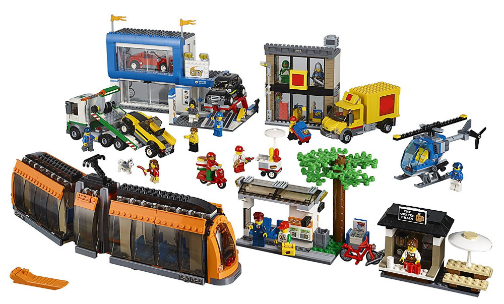 LEPIN City Town City Square Building Blocks Sets Bricks Kids Model Kids Toys For Children Marvel Compatible Legoe lepin 15003 2859pcs city creator town hall sets model building kits set blocks toys for children compatible with 10024