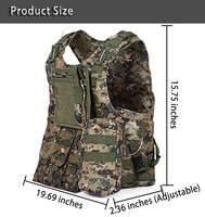 Professional USMC Airsoft Tactical Military Molle Vest Combat Assault Plate Carrier Vest Army fans Outdoor equipment CS Clothing