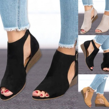 Women Shoes 2019 Wedge Buckles Fish Mouth Sandals G